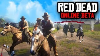 HORSE RACING DEATH RACE! | Red Dead Redemption 2 Online Beta Gameplay