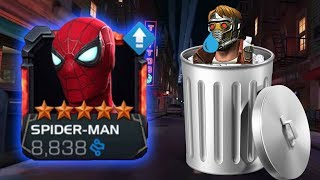 5 Star Stark Enhanced Spider-Man Rank Up & Gameplay - Marvel Contest Of Champions