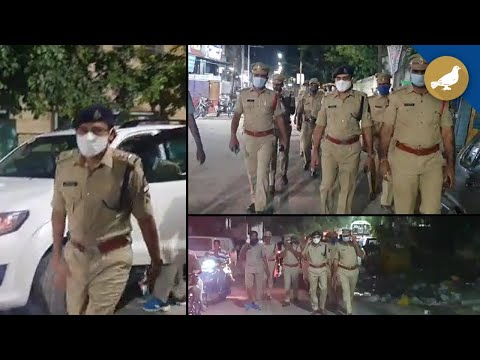 Hyderabad Police Take Out Flag March At Madannapet