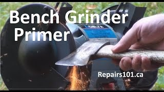 Bench Grinder Primer - Tips Tricks & Axe / Hatchet Head Restoration