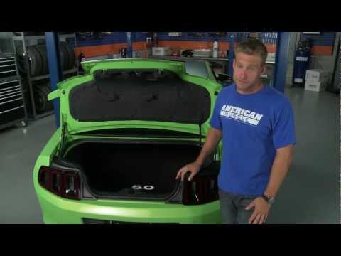 Mustang Trunk Mat - Embroidered Logo (10-13 All) Review