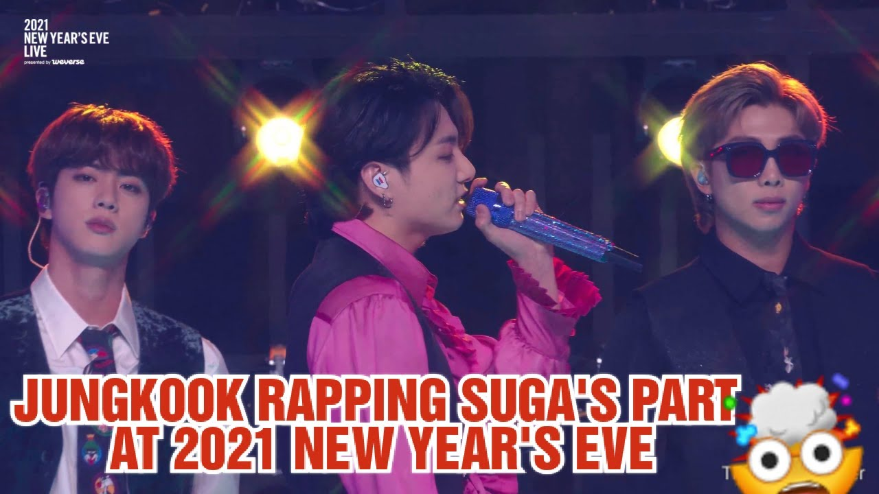 Jungkook singing suga's part of Best of me -Bts 2021 new year eve Live