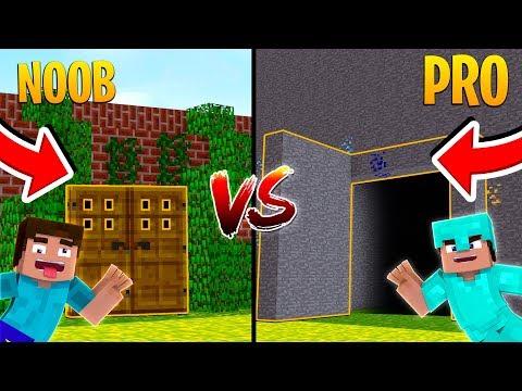 Minecraft -NOOB VS PRO SECRET BASE!