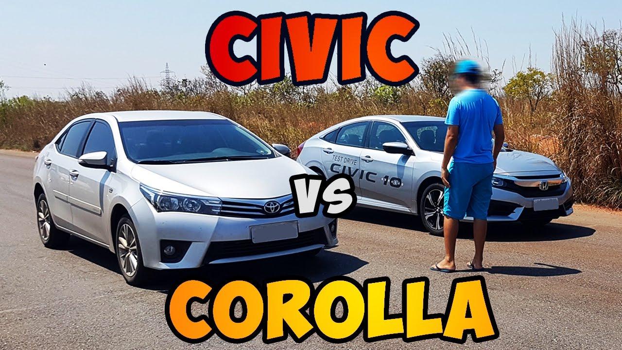 Teste 0 100 honda civic 2 0 2017 vs corolla 2 0 2015 for Honda civic vs toyota corolla 2017