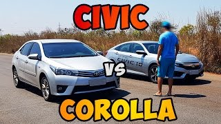 Teste 0-100 HONDA CIVIC 2.0 2017 [VS] COROLLA 2.0 2015