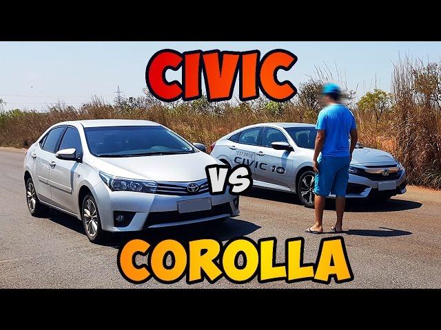 Corolla Vs Civic 2017 >> Honda Civic 2 0 2017 Vs Toyota Corolla 2 0 2015 Drag Race