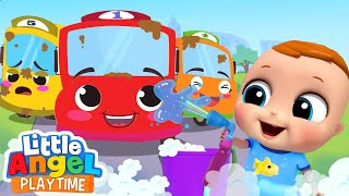 10 Little Baby Buses | Little Angel Kids Songs and Nursery Rhymes