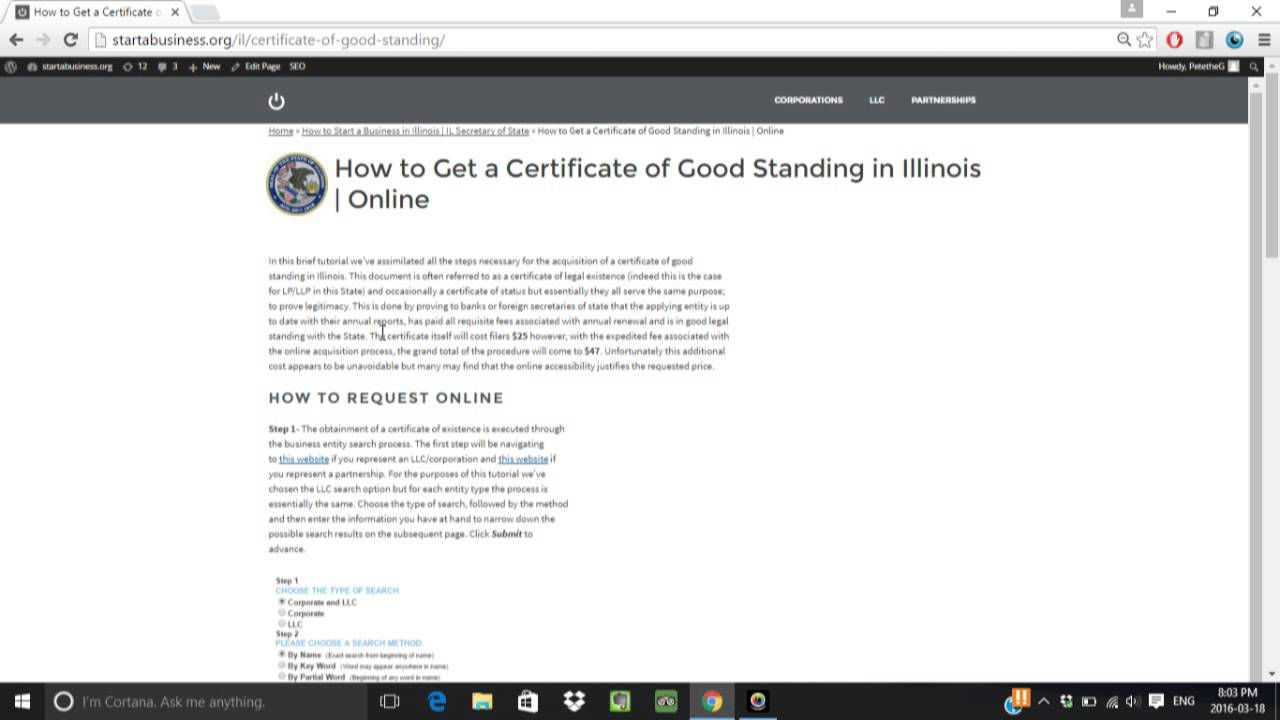 How to get a certificate of good standing in illinois online how to get a certificate of good standing in illinois online xflitez Image collections