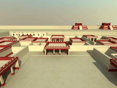 Zona Arqueológica de Teotihuacan - modelo virtual