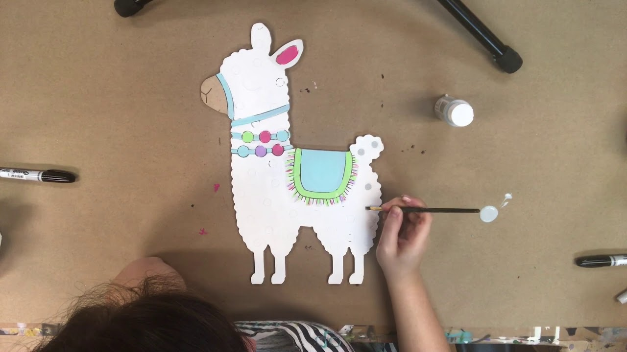 Llama Paint by Line Instructions s2d32 s7a6
