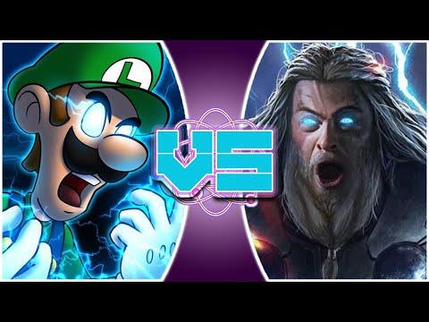 LUIGI vs THOR! (Mario vs Avengers Endgame) - REWIND RUMBLE! - 동영상