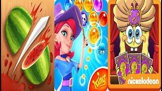 Fruit Ninja vs Bubble Witch 2 Saga vs SpongeBob