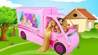 Barbie Doll Pop Up Camper Camping Day! Puppe Wohnmobil Campeur poupée Barbie باربي سيارة التخييم