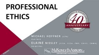 McKonly & Asbury Webinar - Professional Ethics