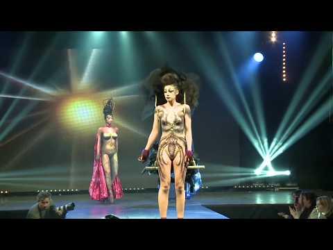 Show Make Up bodypainting Peyrefitte long 2014