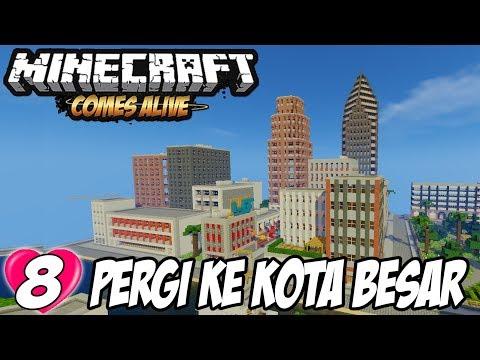 Wow! Kita Menemukan Kota Baru - Minecraft Comes Alive #8