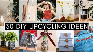 30 Upcycling DIY Ideen aus Altglas &Tetrapak, Fashion Thrift Flips: Jeansjacken, Shirts& Handtaschen