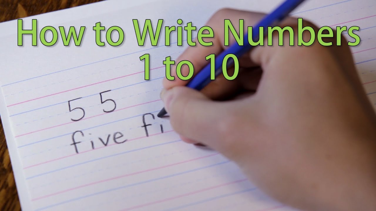 letters to numbers how to write from 1 to 10 learn the numbers 23418 | maxresdefault