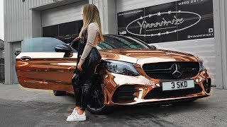 Family do 21st Birthday Rose Gold Mercedes Car Reveal