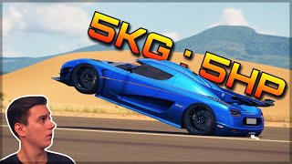 THE 5KG : 5HP Koenigsegg ONE:1 | Forza Horizon 3 Dev Mods | It defies physics...