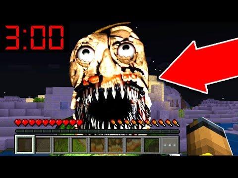 I FOUND NIGHTMARE BALDIS BASICS in Minecraft Pocket Edition at 3:00 AM!