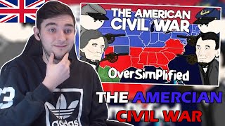 British Guy Reacts to The American Civil War - OverSimplified (Part 1)
