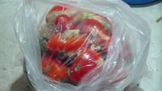 Как засолить помидоры в пакете. Простой рецепт.