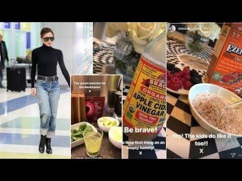 News Today -  Victoria Beckham REVEALS diet trick is drinking vinegar