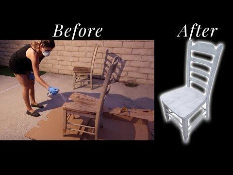 DIY HOW TO REFURBISH WOOD CHAIRS