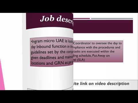 Logistics Coordinator Job In UAE