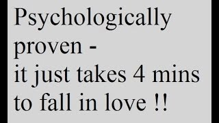 Psychological Facts About Falling In Love - Crazy, fun, interesting about being in love !!