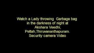 Garbage throwing at Thiruvananthapuram