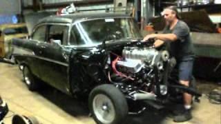junkman inc 548 big block blower motor transplanted into 57 chevy