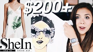 HUGE SHEIN SUMMER CLOTHING HAUL 2018! $200 worth of clothes!
