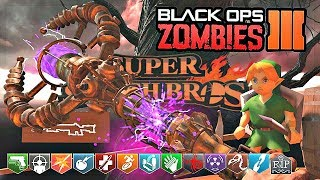 BLACK OPS 3 CUSTOM ZOMBIES MOD TOOLS! | SMASH BROS CONGO JUNGLE WITH BO2 WEAPONS AND STAFFS!