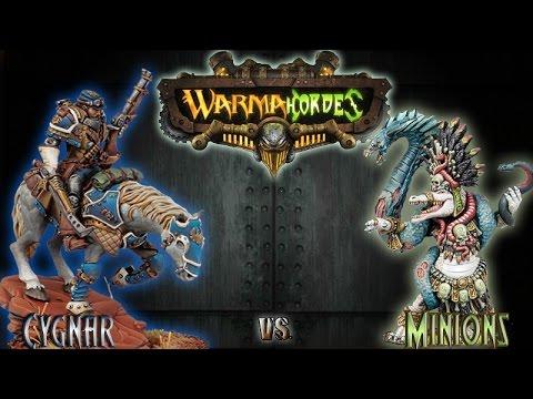 Warmachine & Hordes - Cygnar (Kraye) vs. Minions (Jagga-Jagga) - 75pt Battle Report
