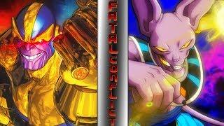 THANOS vs BEERUS! (Avengers vs Dragon Ball Super Animation)    ⚠️ FATAL CONFLICT ⚠️