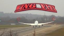 787 Wing Flex Take off Air Canada London Heathrow Airport