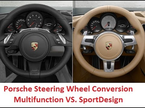Porsche Multifunction Steering Wheel To Sportdesign