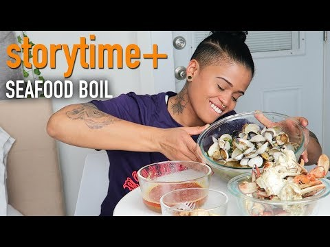 SEAFOOD BOIL MUKBANG + TAE'S STORYTIME (DATING NIGHTMARES- A STRAIGHT WOMAN PLAYED ME!)