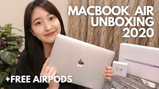 MacBook Air 2020 Unboxing | first impressions 😬