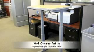 Hat |  Height Adjustable Tables - Www.workplaceemporium.com