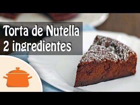 Receita de Torta ou Bolo de Nutella com 2 Ingredientes
