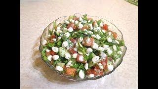 Вкусный овощной салат- На скорую руку! ПП рецепт!