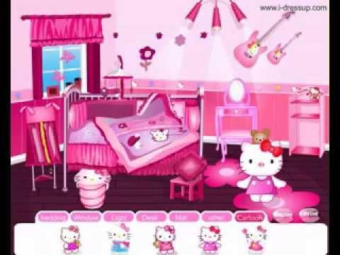 hello kitty bedroom decorating ideas youtube
