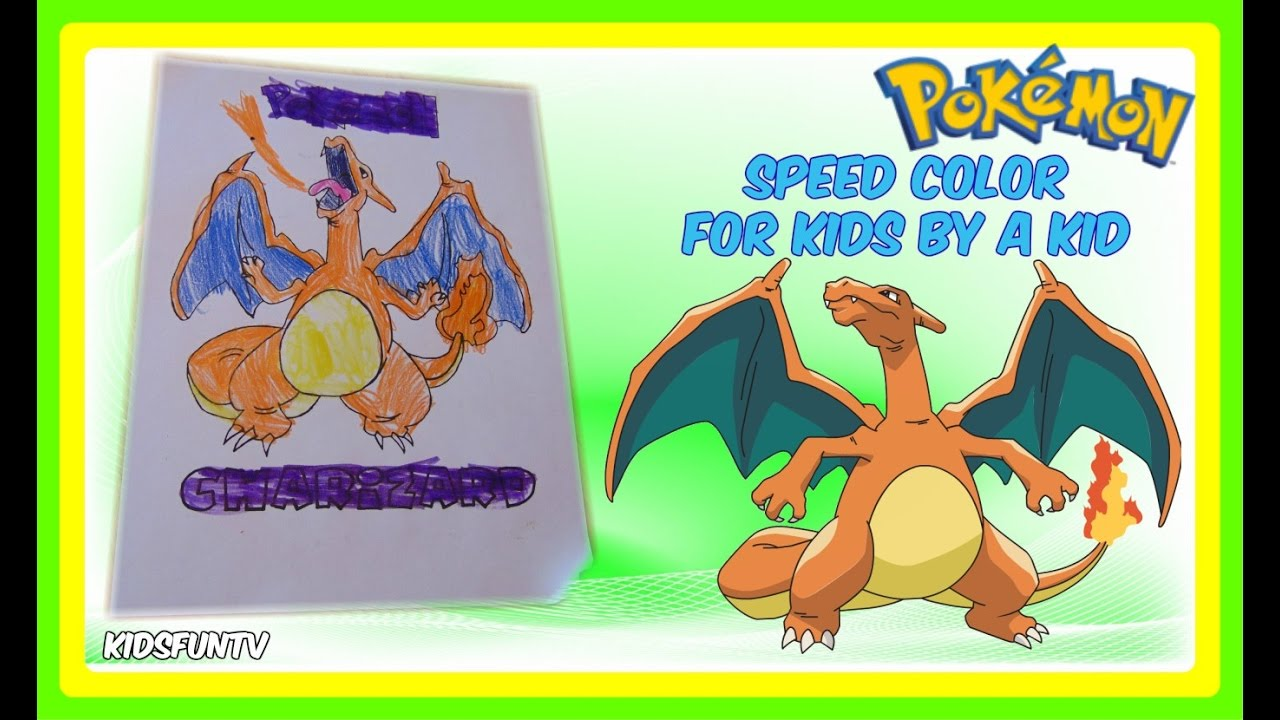 pokemon coloring pages for kids speed color of charizard