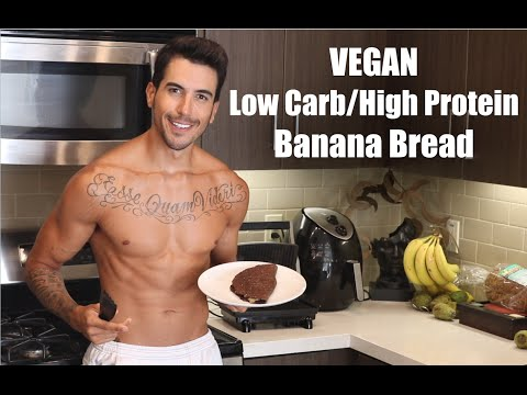 No Chicken In The Kitchen -  Vegan Low Carb/High Protein Flourless Banana Bread