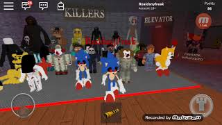 SCARY SONIC! Roblox the horror elevator