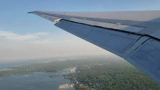 Take off from  T F Green Airport  Providence Rhode Island Delta Airlines MD88 going to Atlanta