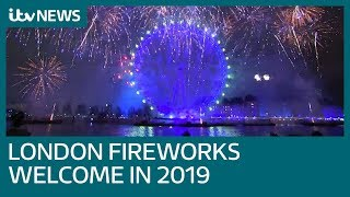 UK welcomes in 2019 with spectacular fireworks display | ITV News